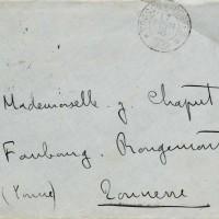 Lettre Chaput 17/02/1916 - enveloppe