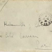 Enveloppe du courrier du 22 mai 1916